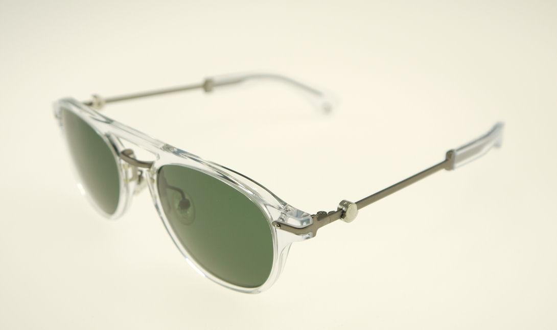 cce1b4b1e8c5 Moncler MC503V-09 Crystal / Green Sunglasses