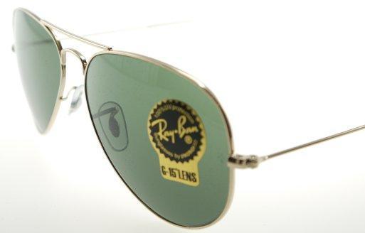 d29860903a2cc RayBan 3025 L0205 Aviator Gold   G-15 Sunglasses