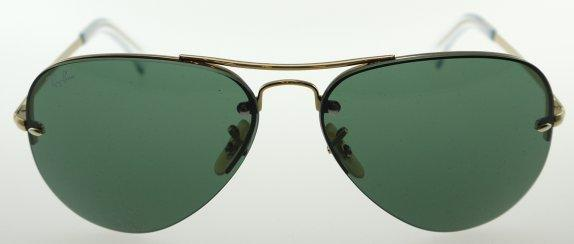 0b40336cb1 Ray-Ban 3449 001 71 Aviator Gold   Green Sunglasses