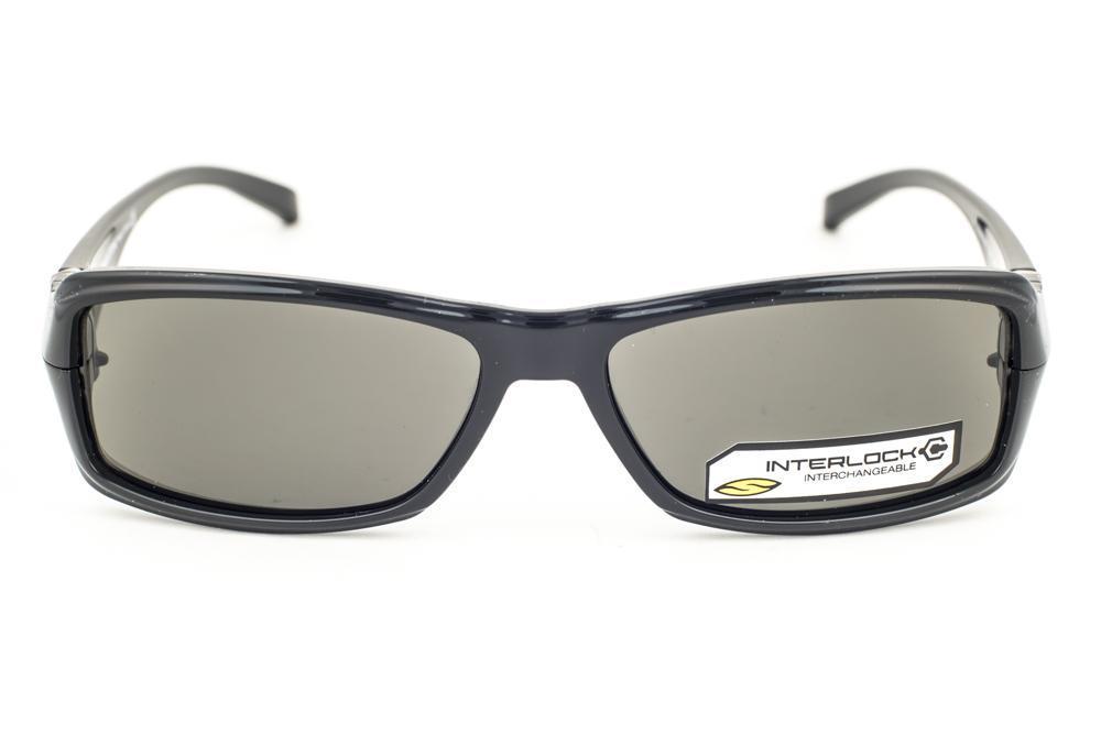 612dccccefa Smith Crossroads Shiny Black   Gray Interlock Sunglasses D28 Extra Lenses