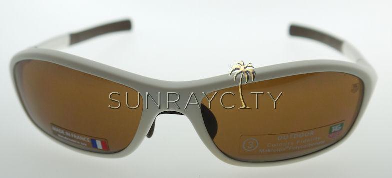 1f7fe6ec570 Tag Heuer 27 Degree Matte White   Brown Sunglasses 6001-706