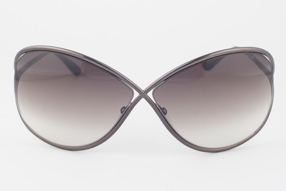 5206680ec718a Tom Ford Miranda Shiny Dark Bronze   Brown Gradient Sunglasses TF130 36F