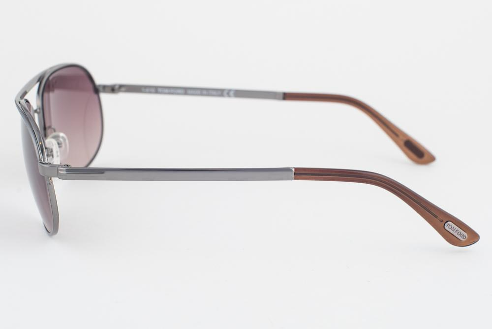 7b95b4e3753 Tom Ford Mathias Gunmetal   Brown Gradient Sunglasses TF143 08F