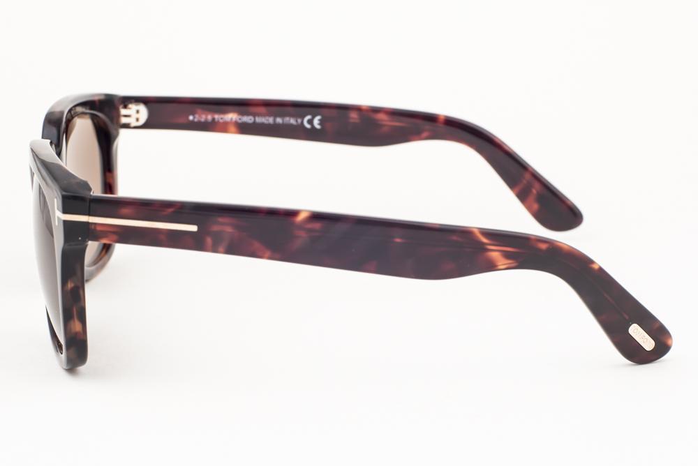 Brown Sunglasses TF198 56J Tom Ford Campbell Dark Havana