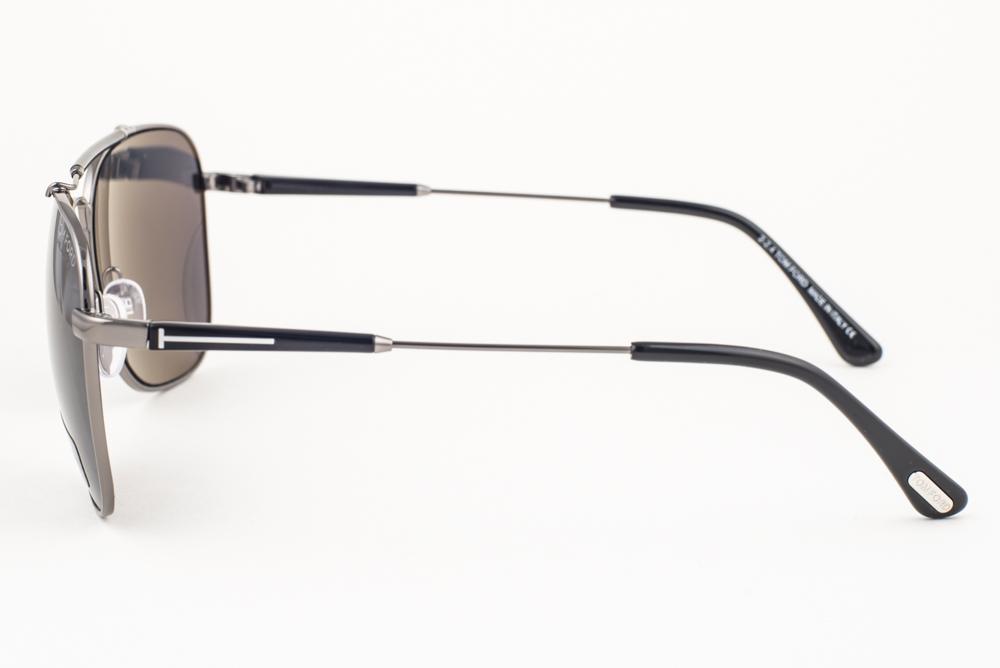 a6b21dc2403 Tom Ford Edward Gunmetal Black   Gray Polarized Sunglasses TF377 09D