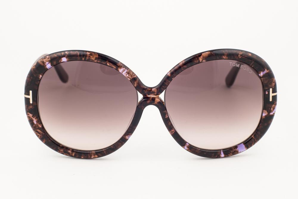 ded9016213 Tom Ford Gisella Brown Marble   Gray Sunglasses TF388 50F
