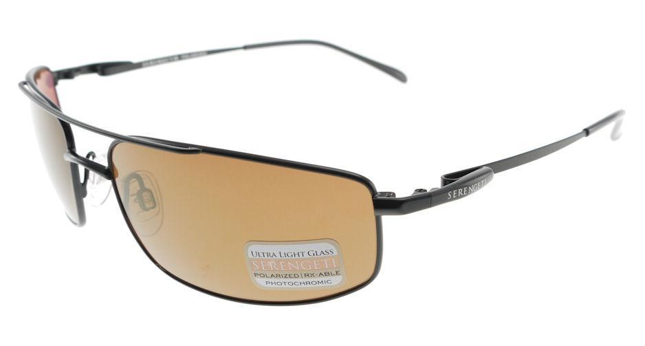 4860be420357 Serengeti Lamone Satin Black Drivers Gold Polarized Sunglasses 7709