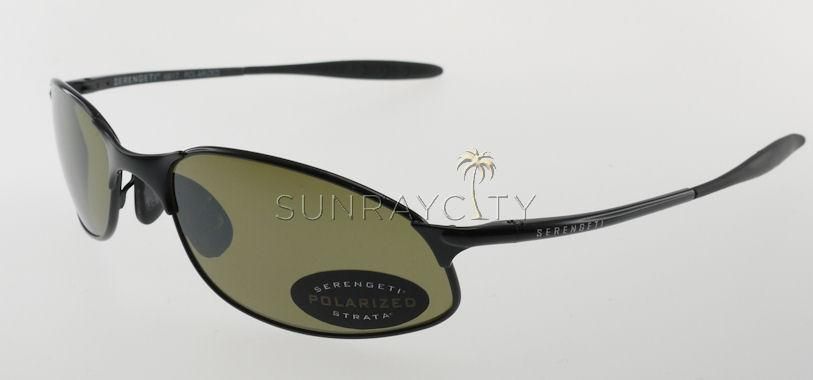 Serengeti Monza Shiny Black Polarized 555nm Sunglasses 6817