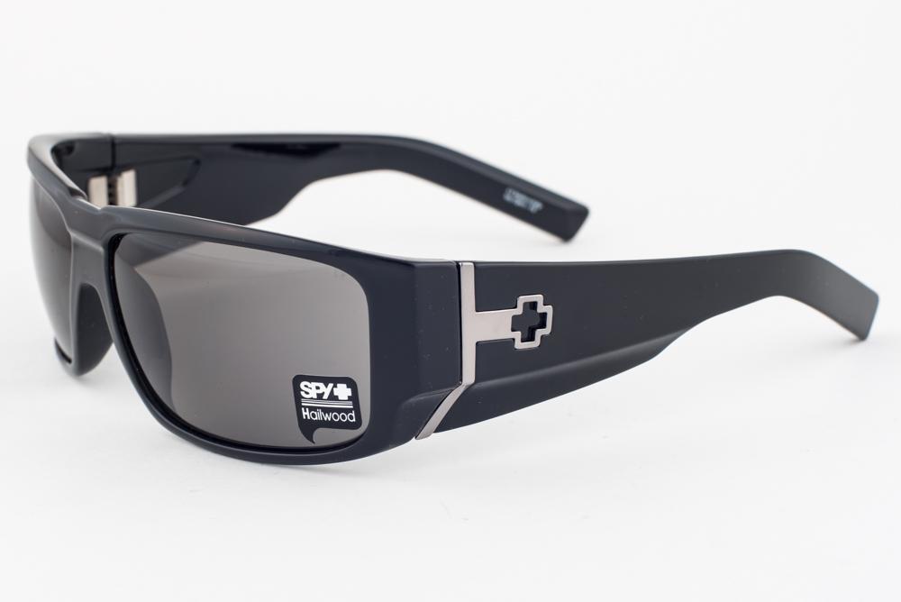 7c77c071e99fc SPY Hailwood Shiny Black   Gray Sunglasses
