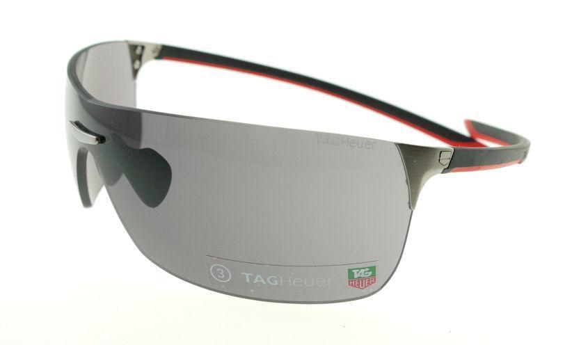 tag sunglasses  Tag Heuer 5503 Red \u0026 Black / Gray Sunglasses 5503-104