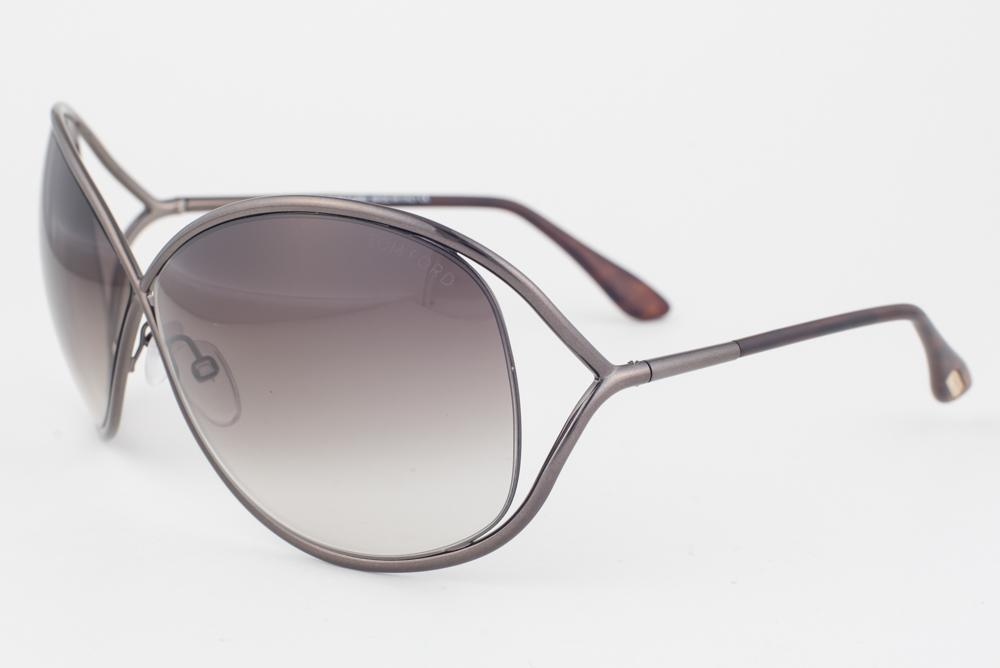 74118585109 Tom Ford Miranda Shiny Bronze   Brown Gradient Sunglasses TF130 36F