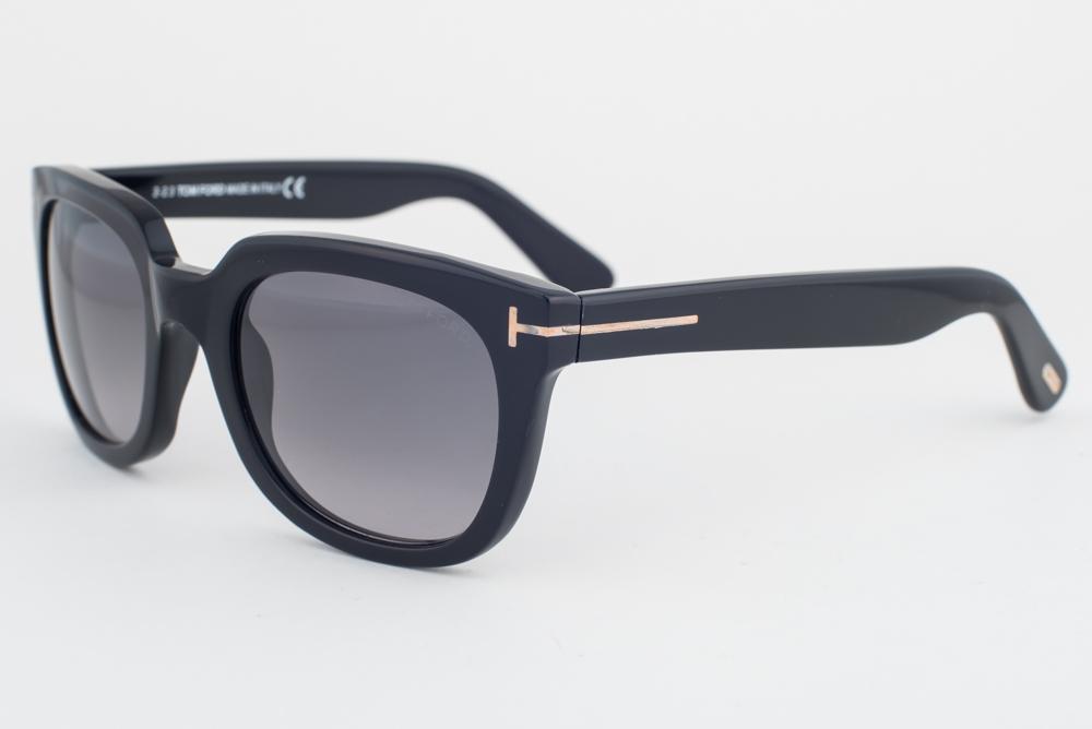 31f9a7c7d4f8 Tom Ford Campbell Shiny Black   Gray Gradient Sunglasses TF198 01B