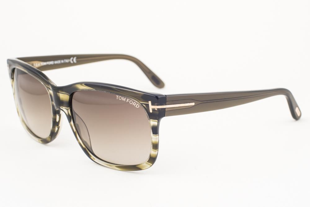 12aae88806 Tom Ford Barbara Striped Green   Gray Gradient Sunglasses TF376 ...