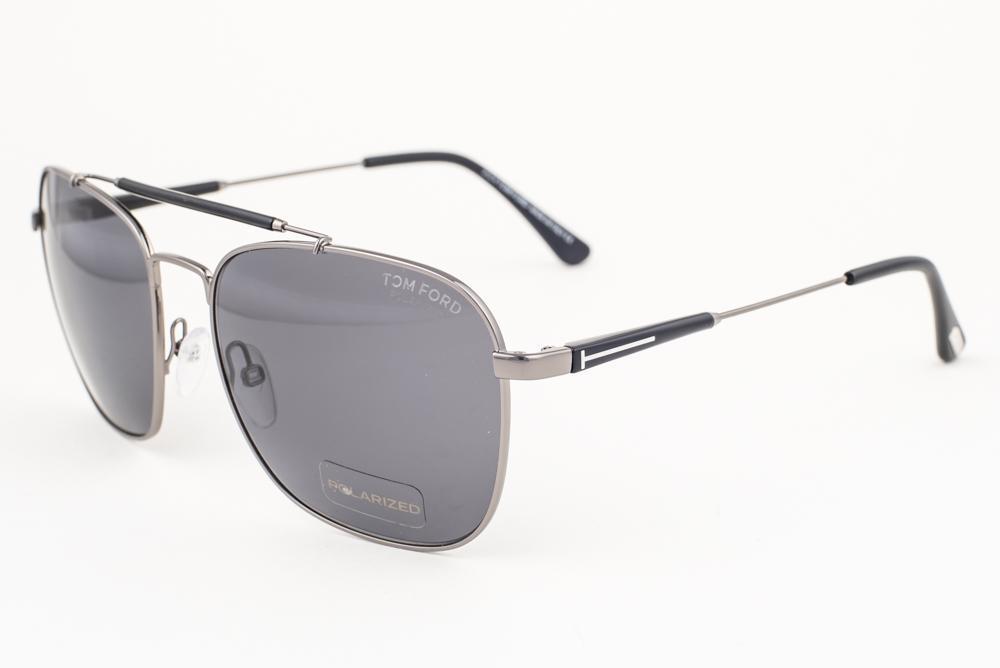 ee32ba4036 Tom Ford Edward Gunmetal Black   Gray Polarized Sunglasses TF377 ...