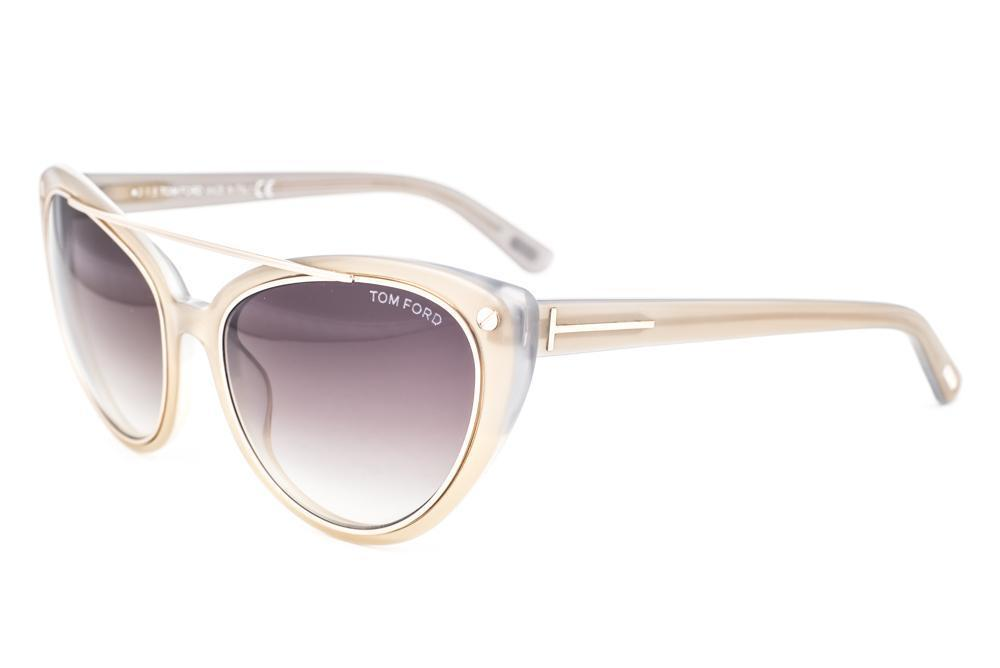 271b8033e7 Tom Ford Edita Pearl Gold   Brown Gradient Sunglasses TF384 34F
