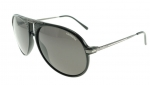 CARRERA 56 SHINY BLACK / GRAY POLARIZED SUNGLASSES 56/S KKL M9