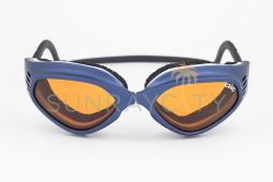 CLiC Blue Frame / Orange Anti Fog Lens Goggles