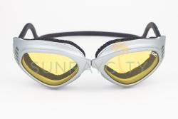 CLiC Silver Frame / Yellow Anti Fog Lens Goggles