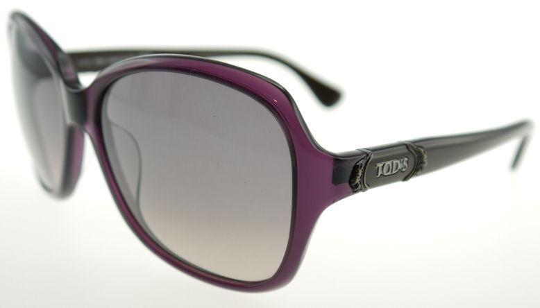 Tods Mens Sunglasses  tod s 28 5981b shiny violet grant smoke sunglasses to 0028 81b