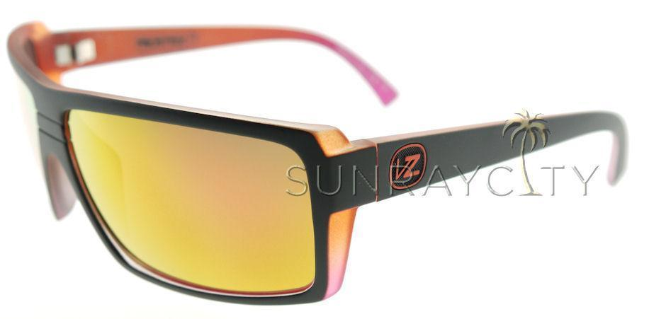 7d5579f5fb Von Zipper SNARK Black Orange   Pink Chrome Sunglasses